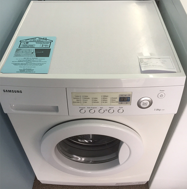Samsung washing machine $695 with 12 month warranty