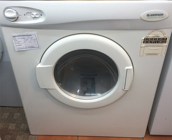 Mid-range second hand washing machine in Christchurch NZ, Simpson washing machine